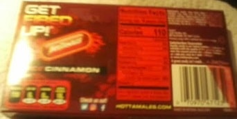 Back of Hot Tamales Package