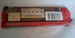 Dove Dark Chocolate Back of Package