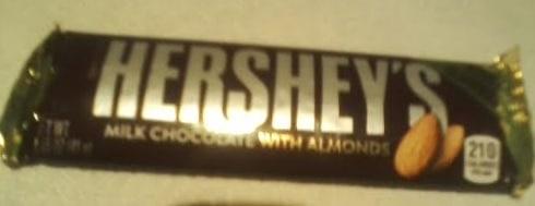 Hersheys Milk Chocolate With Almonds Front