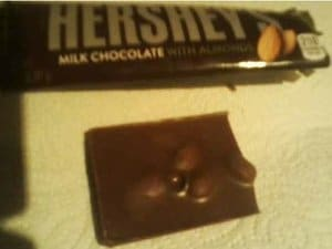Hersheys Milk Chocolate With Almonds Opened