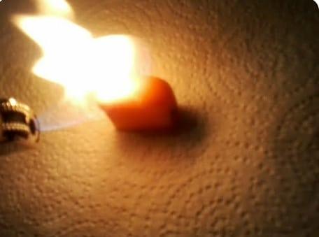 starburst on fire